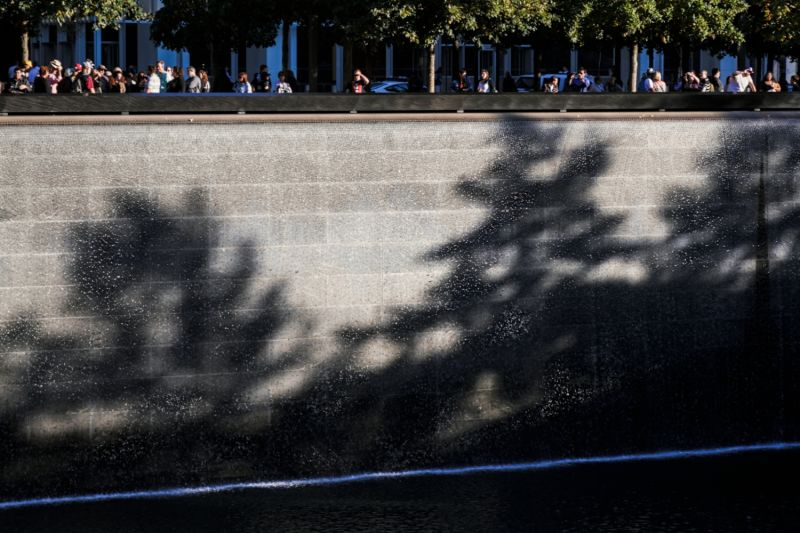 The Reflecting Pools at the 911 Memorial were built in the footsteps of the World Trade Center