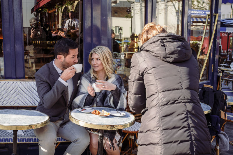 Montmartre is home to many classic Parisian cafes.