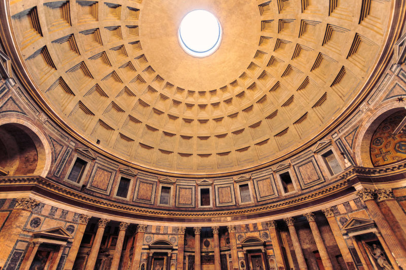 The only place more impressive on the Welcome Tour than the outside of the Pantheon is the inside.