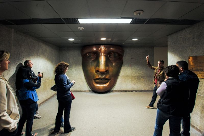See the face of Lady Liberty up close at the (special access) Statue Museum