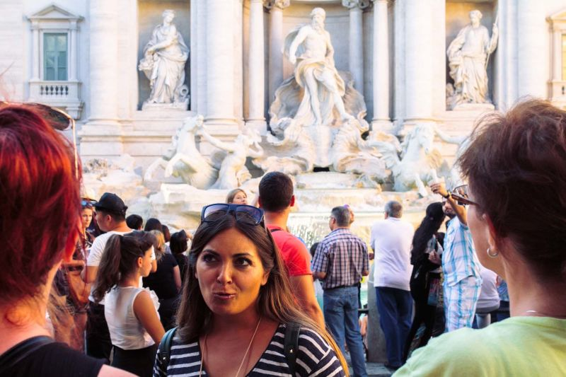 The Trevi Fountain is one of the most iconic sights in Rome.