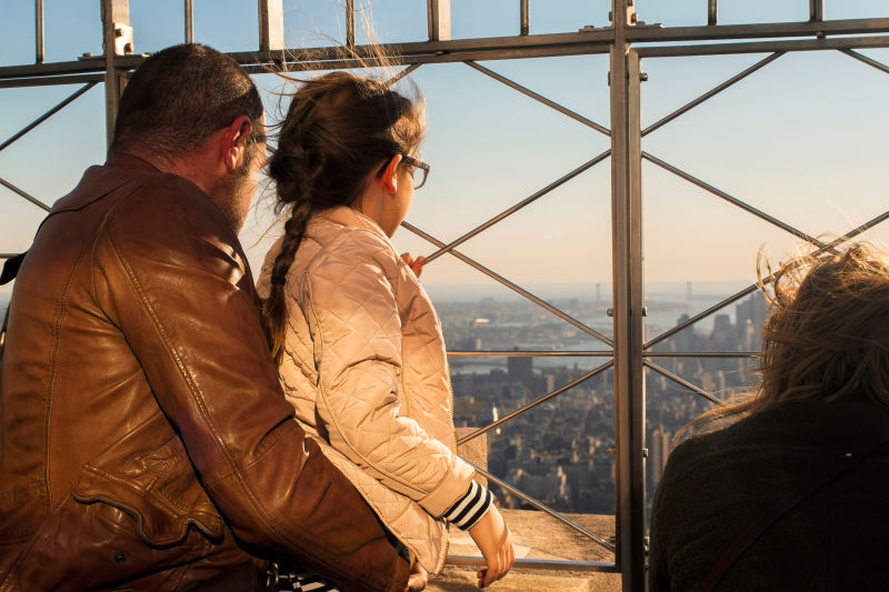 Everyone enjoys the view from the top of the Empire State Building