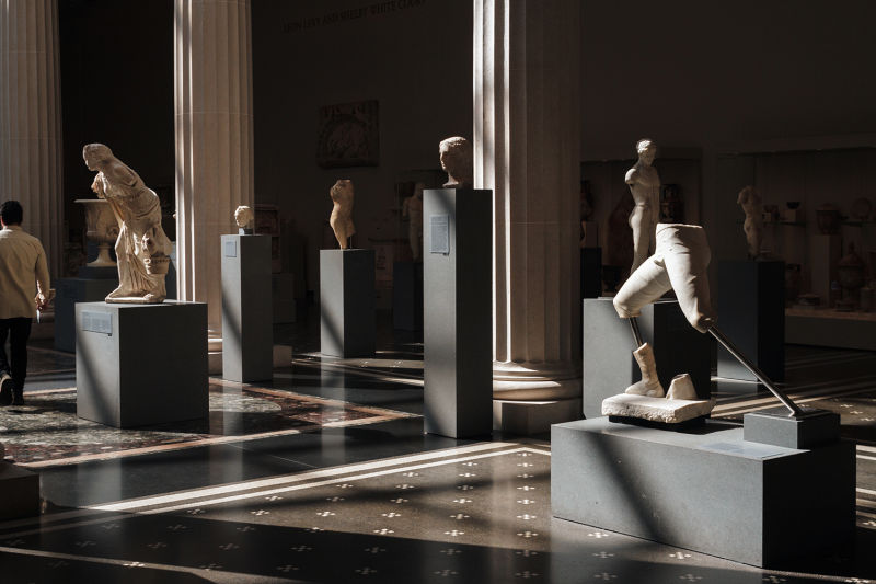 The beautiful ancient sculpture gallery