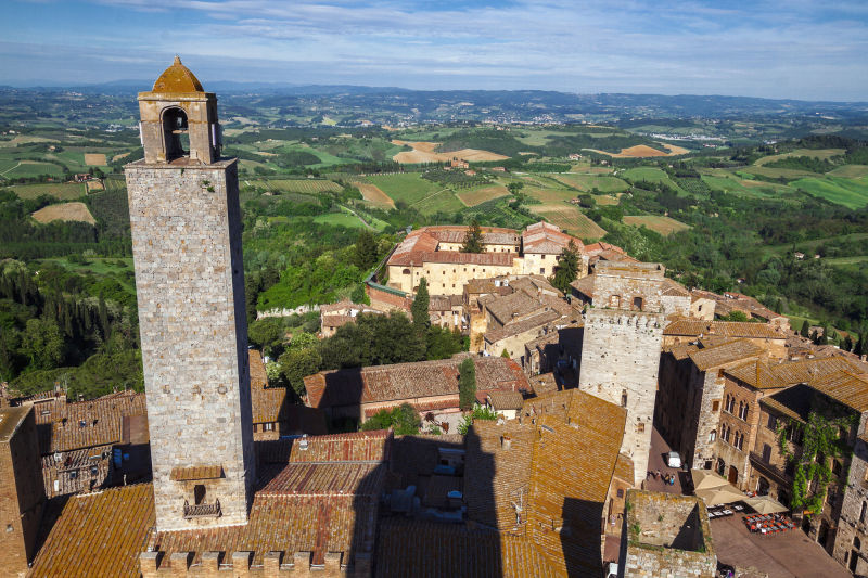 The view from the bell tower of San Gimignano