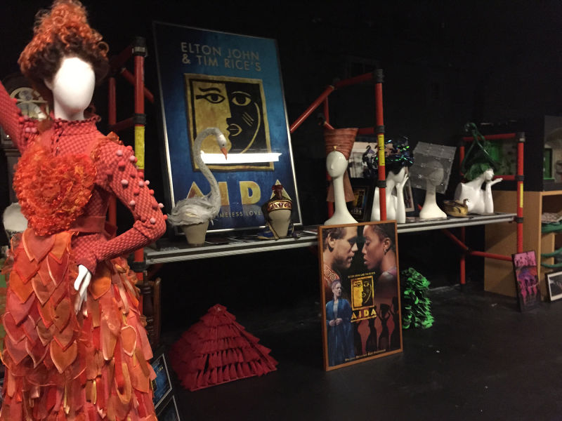 The prop room of the New Amsterdam Theater