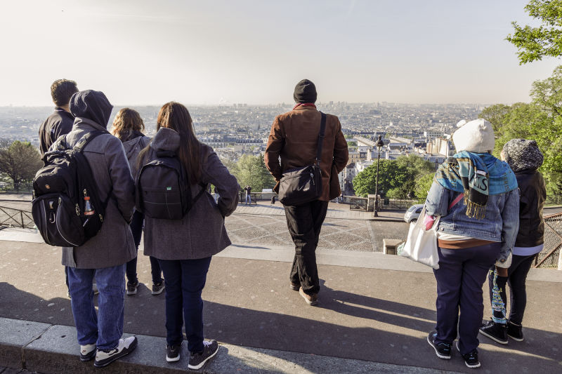 The view from in front of the Sacre-coeur is one of the best in Paris.