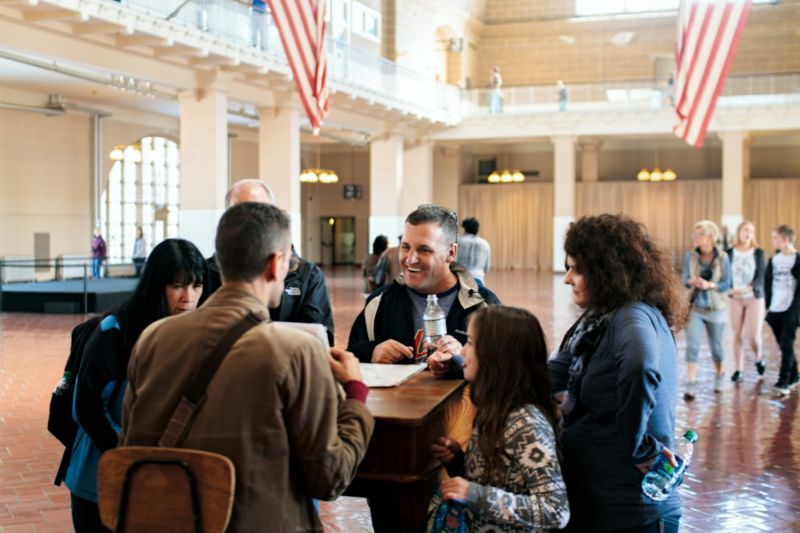 Hear the stories of Ellis Island Immigration Center from your local guide