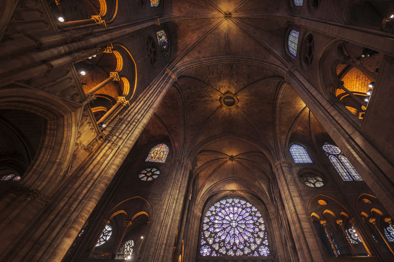 Notre Dame's towering groin vaults are one of the most jaw dropping expressions of gothic architecture in the world.