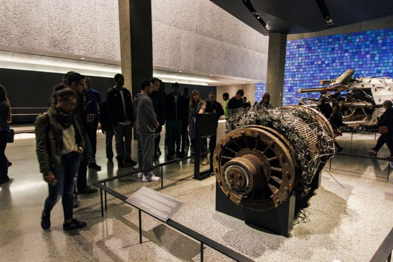 Wreckage salvaged from 911, displayed now in the 911 Museum