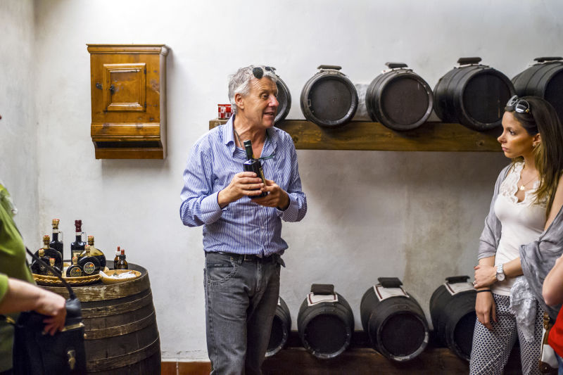Balsamic vinegar is one of the many products that they make in Tuscany