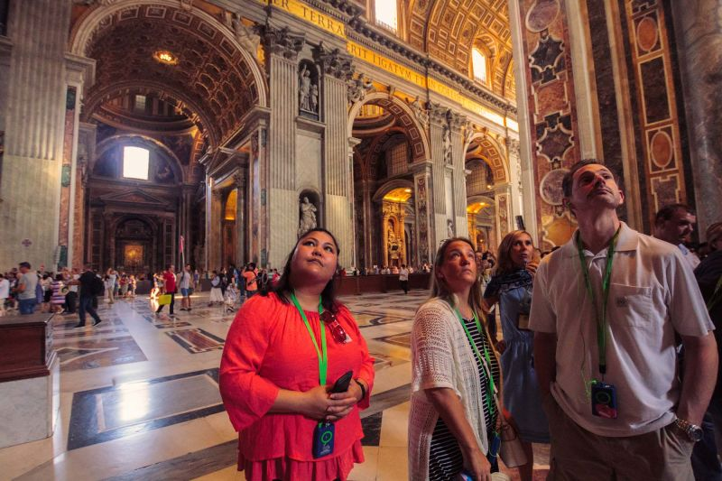 When you get into St. Peter's be prepared to spend a lot of time looking up.