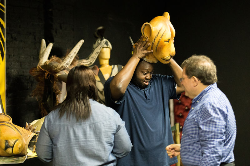 'The Lion King' masks are worth thousands of dollars - and you get to try them on!