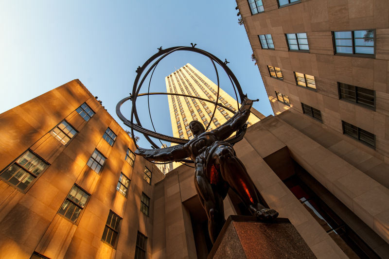Atlas is the heaviest, and probably most famous, statue in Rockefeller Center