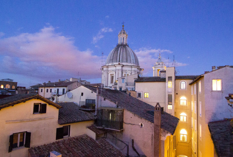 The rooftops of Rome from the Walks terrace