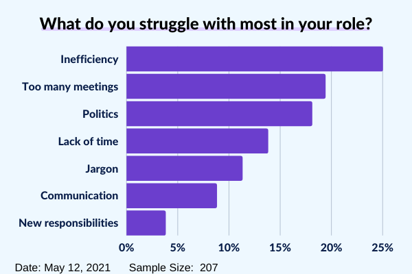 What do you struggle most with in your job 2