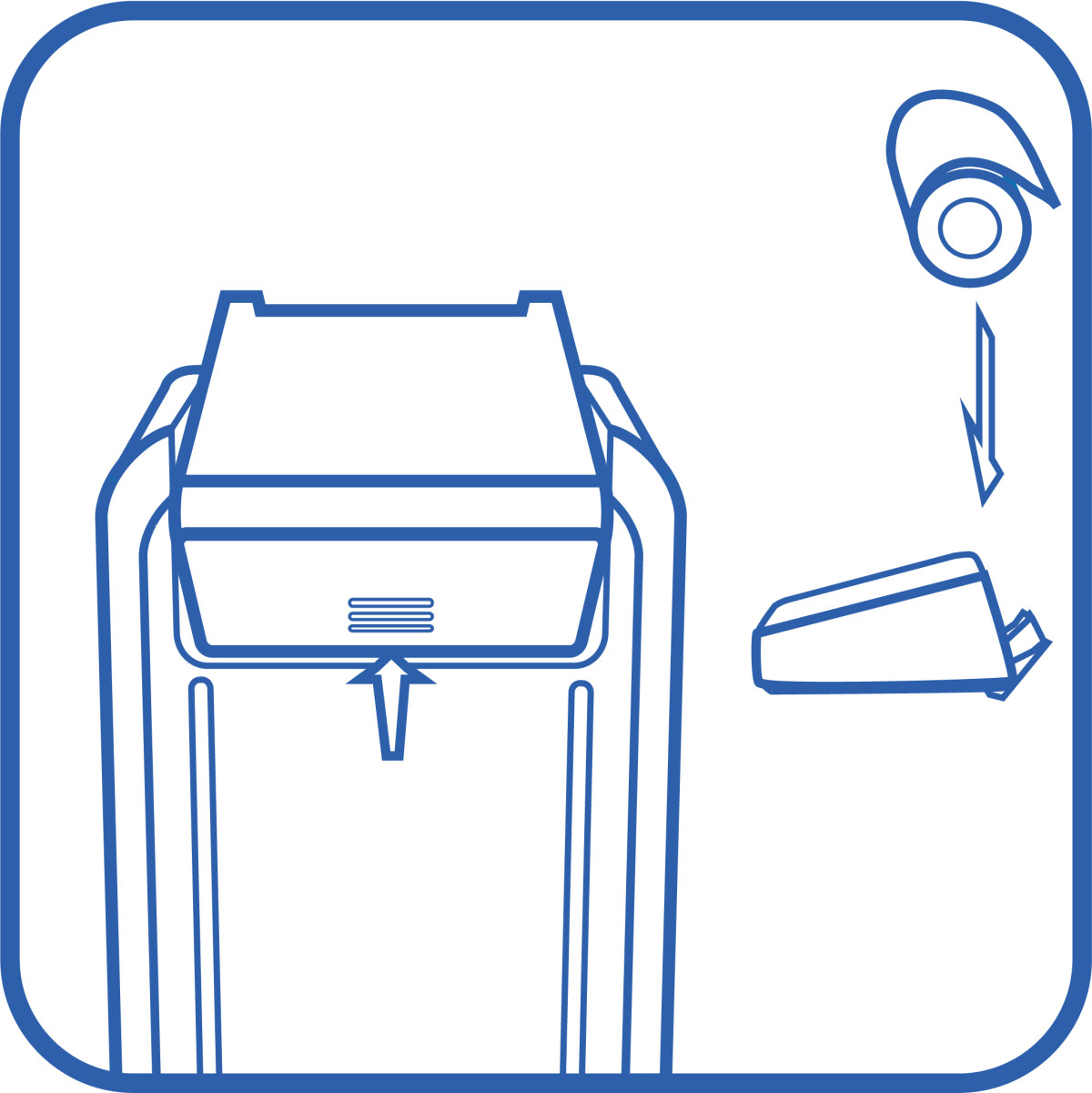 icon of reloading a paper roll into the 3g printer