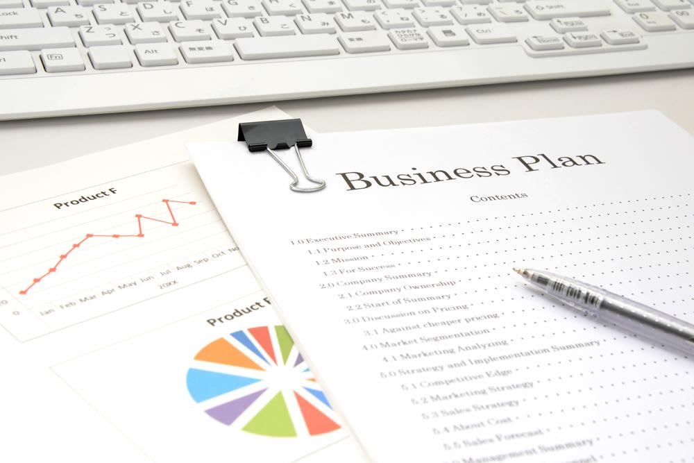 Business plan on desk