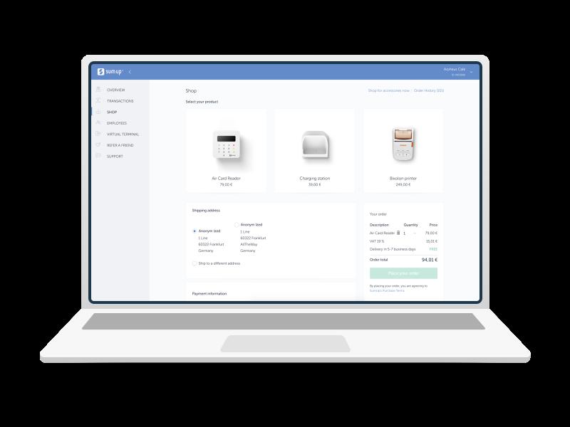 Dashboard online shop