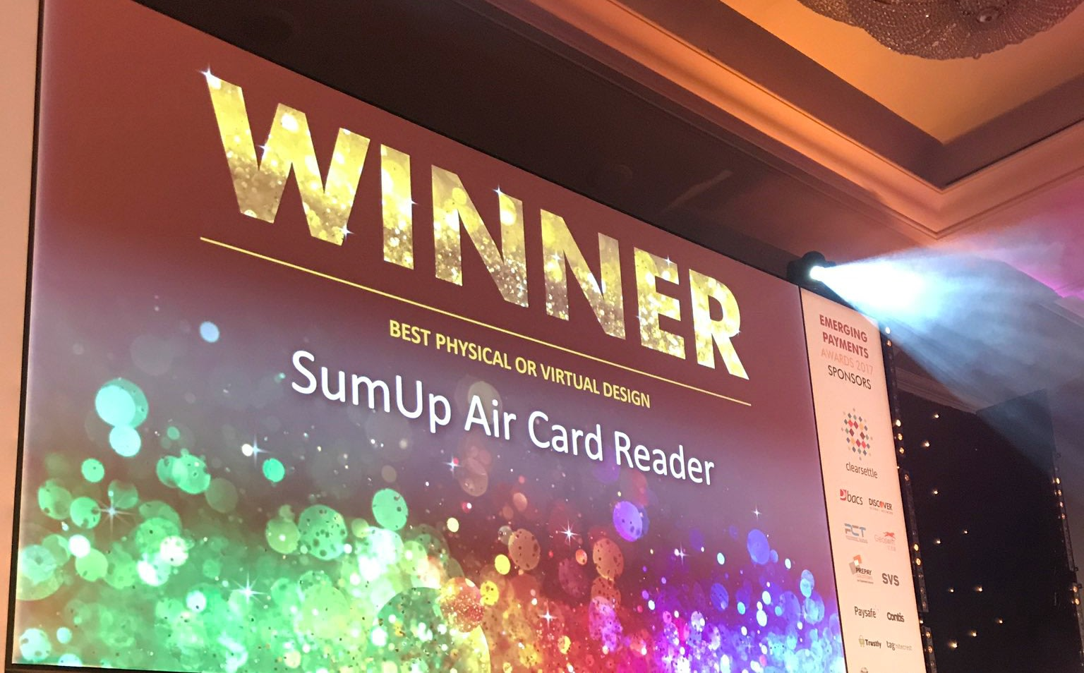 SumUp - Winner of Emerging Payments Award 2017