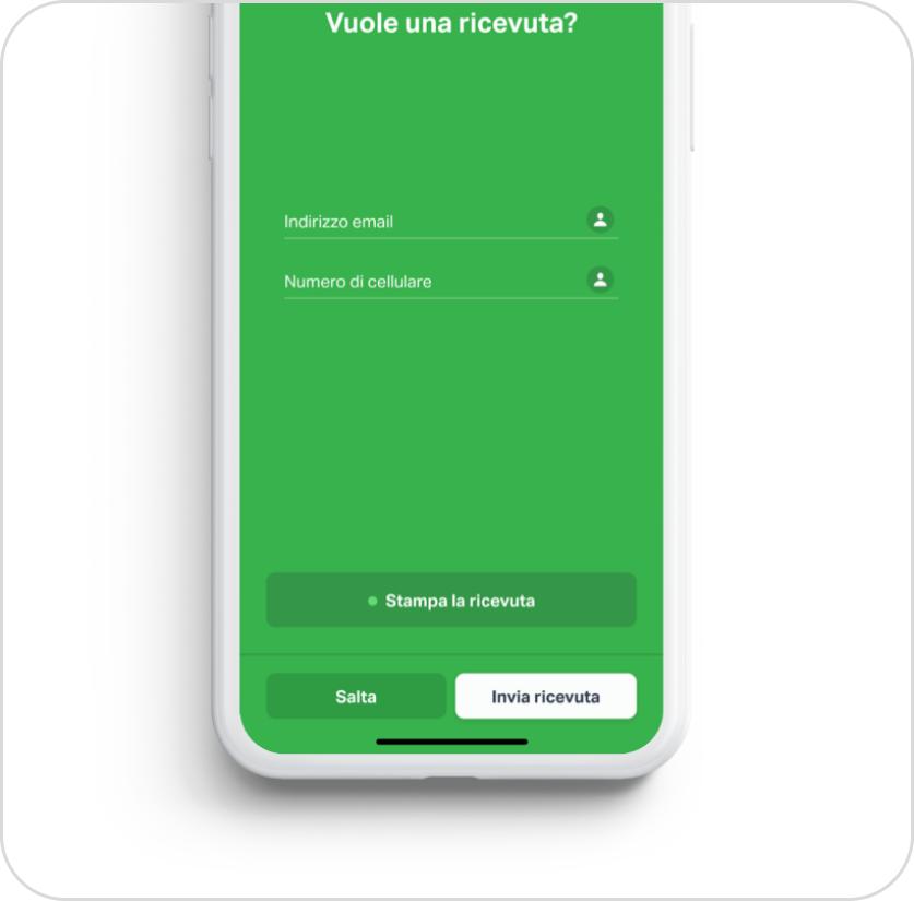 Stampa o invia ricevuta con l'App SumUp