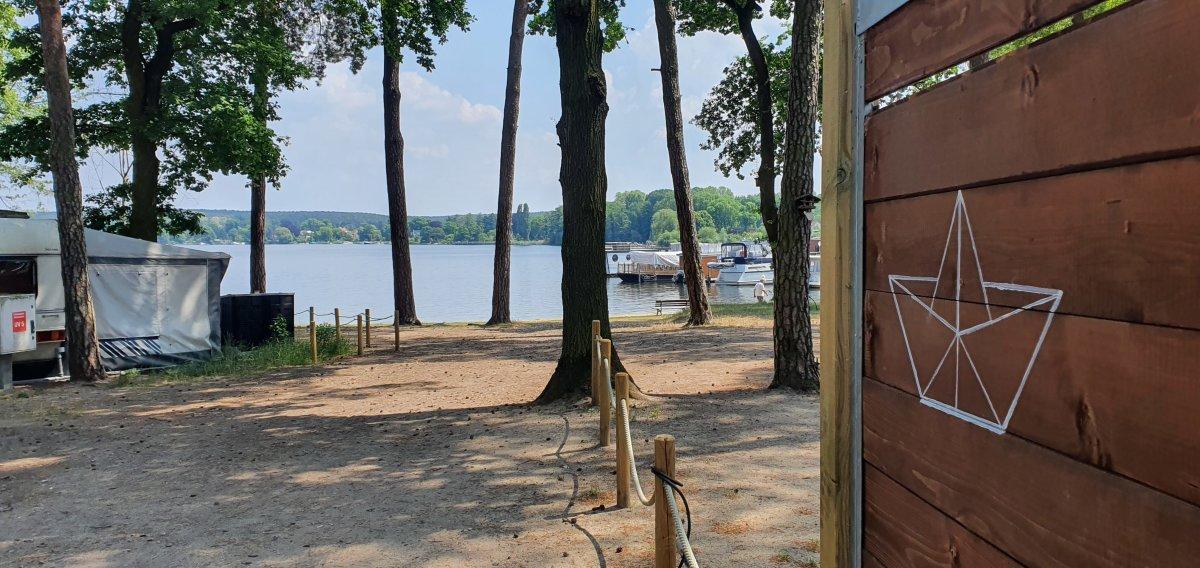 Schwielowsee neben dem Campingplatz Himmelreich