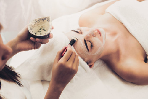 woman in beauty treatment