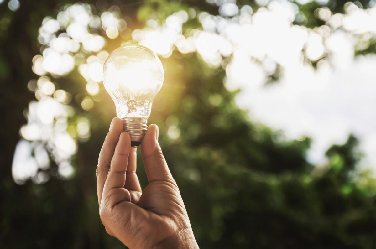 Renewable energy LED lights