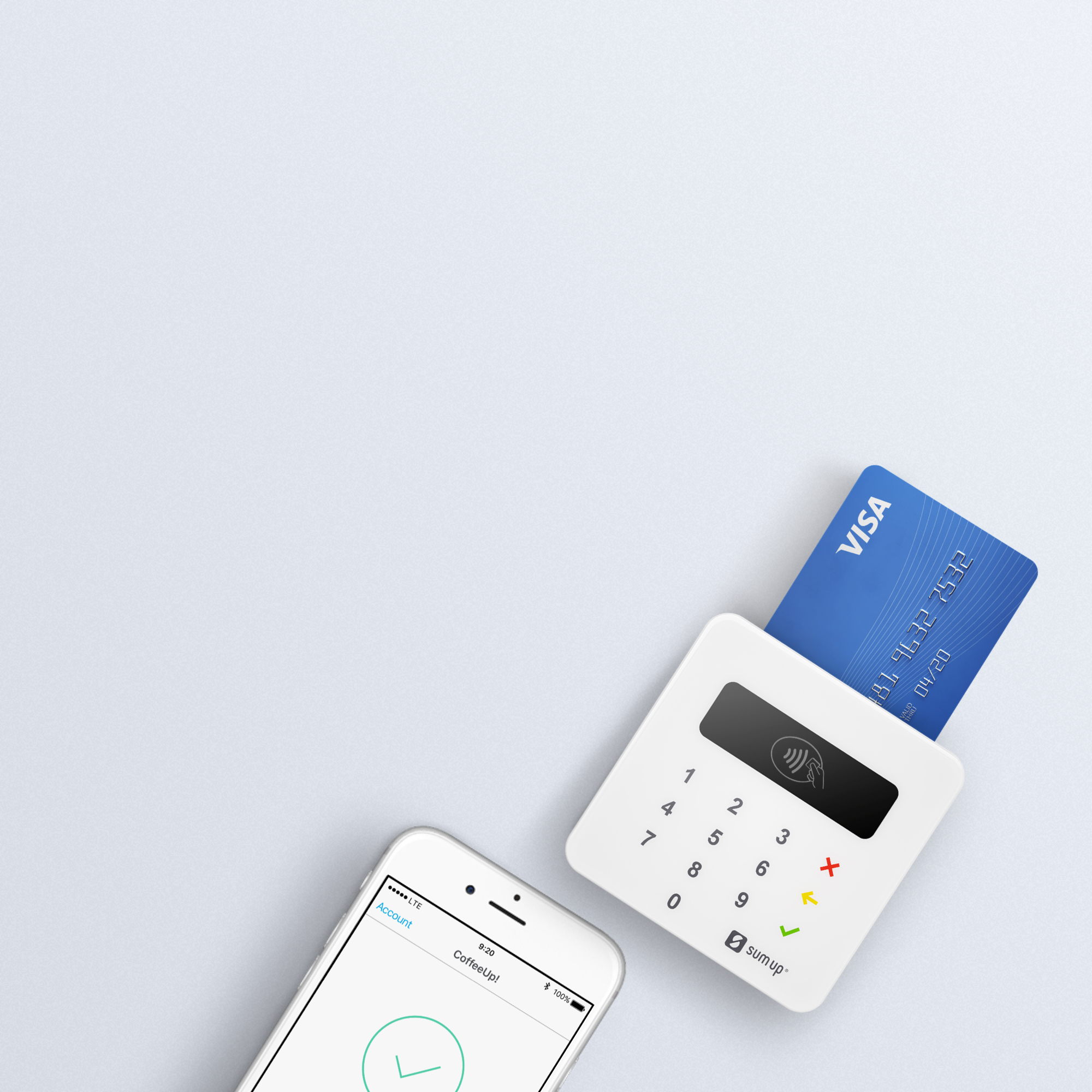 Mobile credit card machine smart secure card reader sumup reheart Gallery