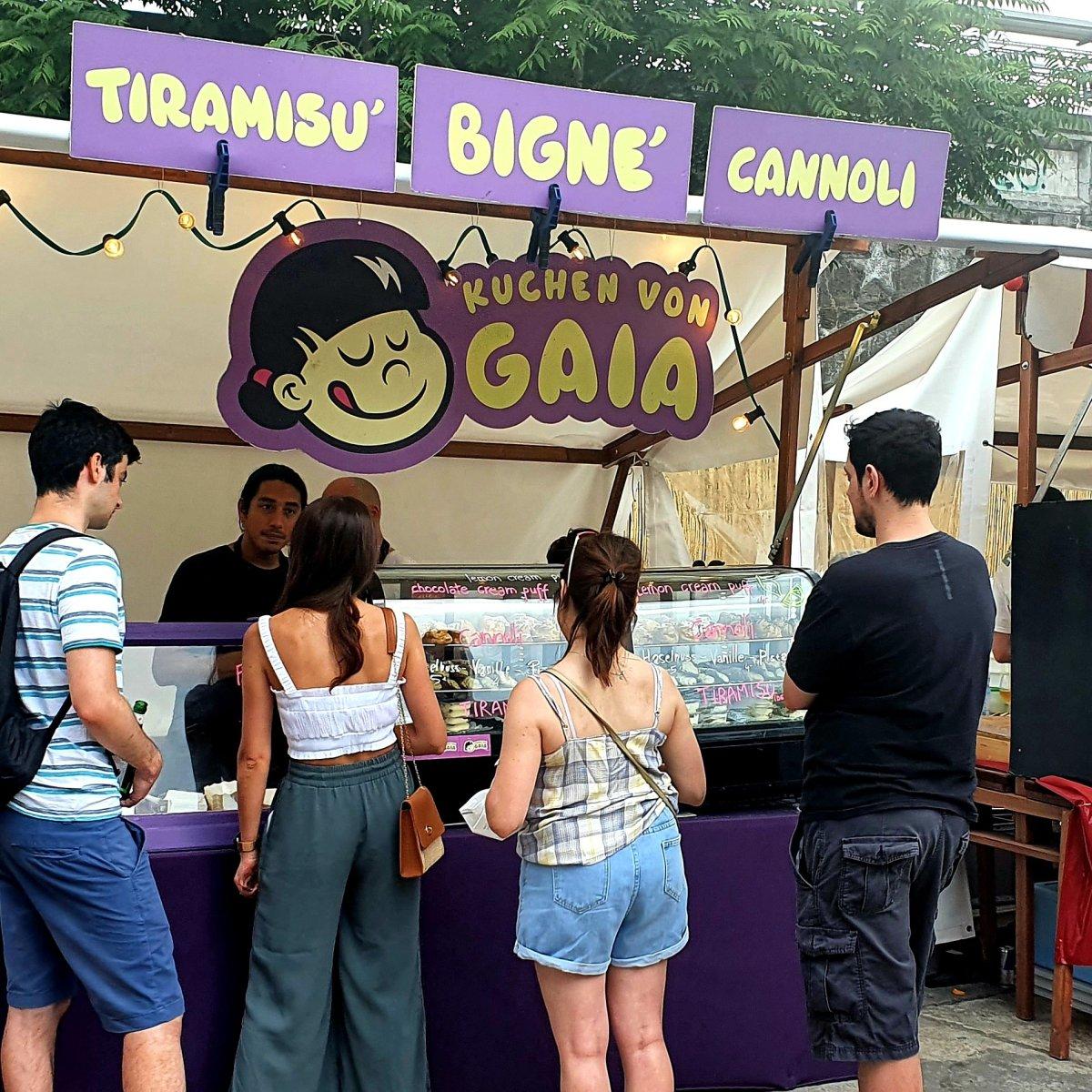 Kuchen von Gaia beim Italian Street Food Festival