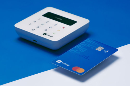 A SumUp Card next to a SumUp Air Card Reader