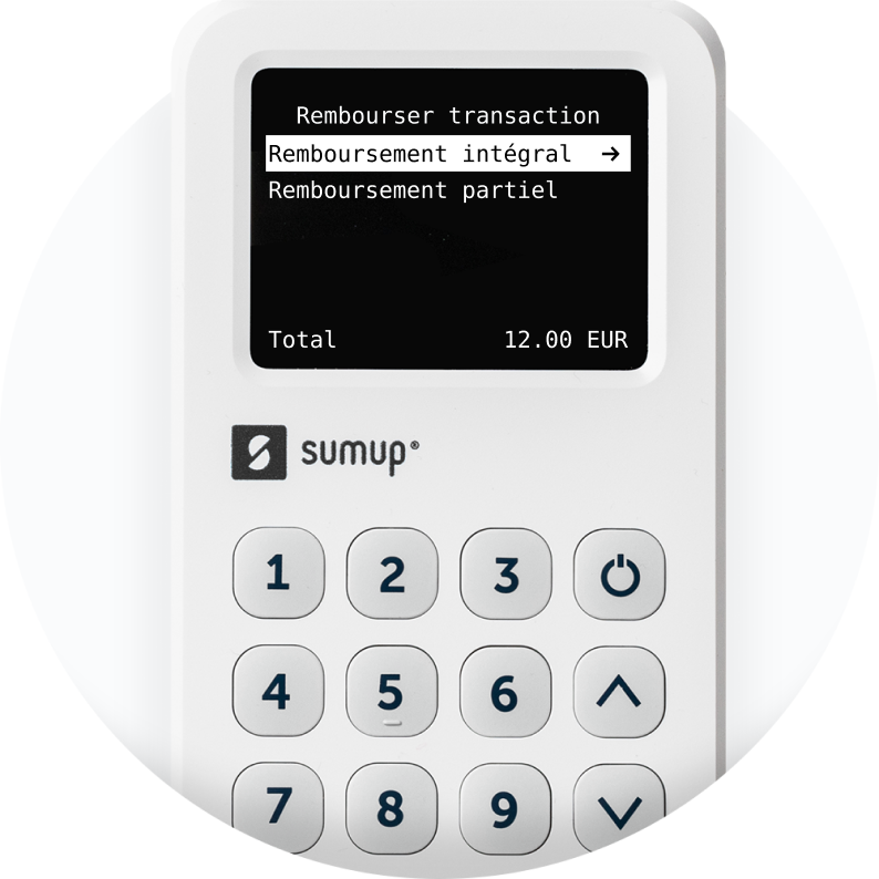 A screen from the SumUp app shows the processed payouts