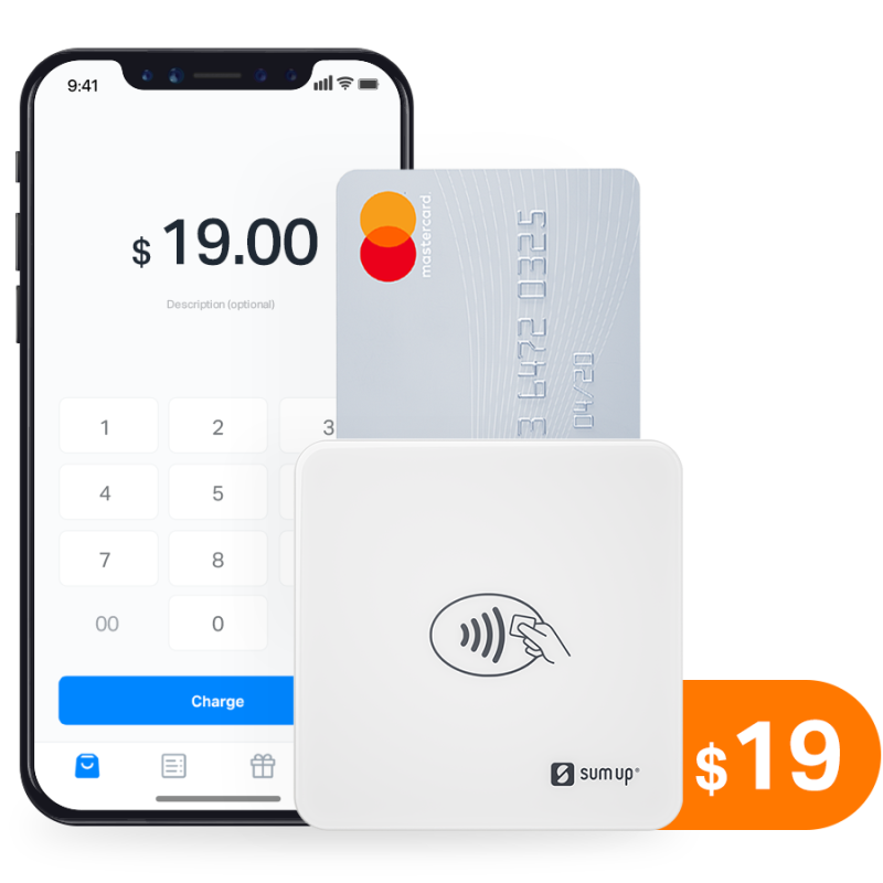Accept all your credit card payments. SumUp's contactless EMV terminal will solve your payment needs for the next decade. Accept EMV chip, magstripe, and NFC payments with Apple or Android smartphone.