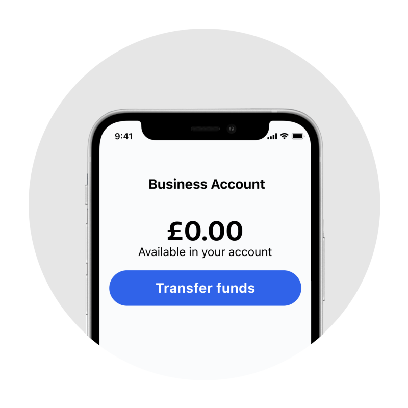 Image of SumUp Business Account home screen