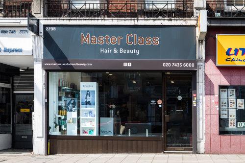 Hair salon storefront