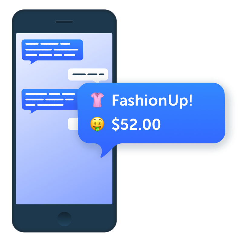 SMS Payments Illustration
