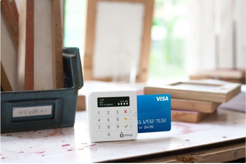 machine for accepting credit card payments