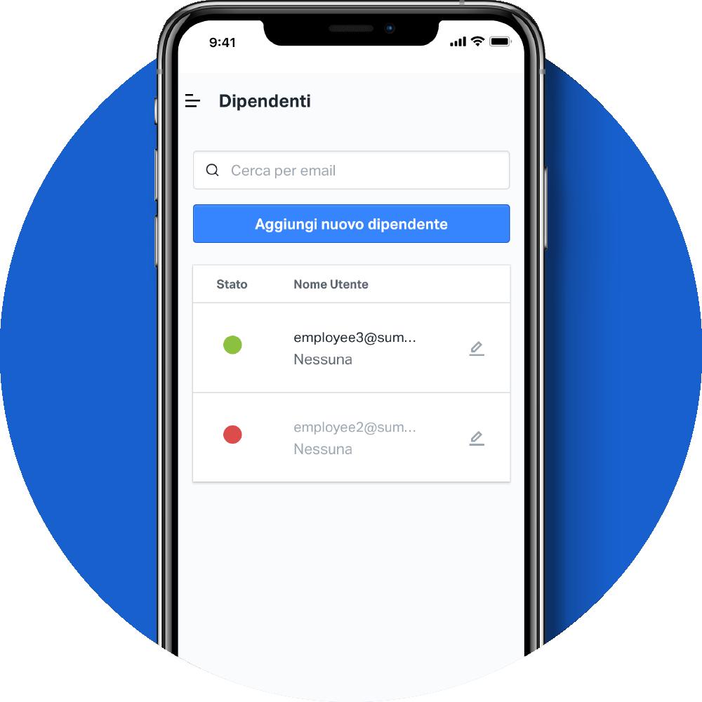 Account dipendenti App SumUp