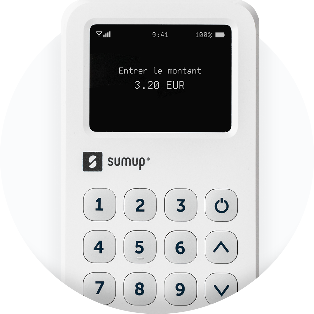 The SumUp 3G card reader on a white background