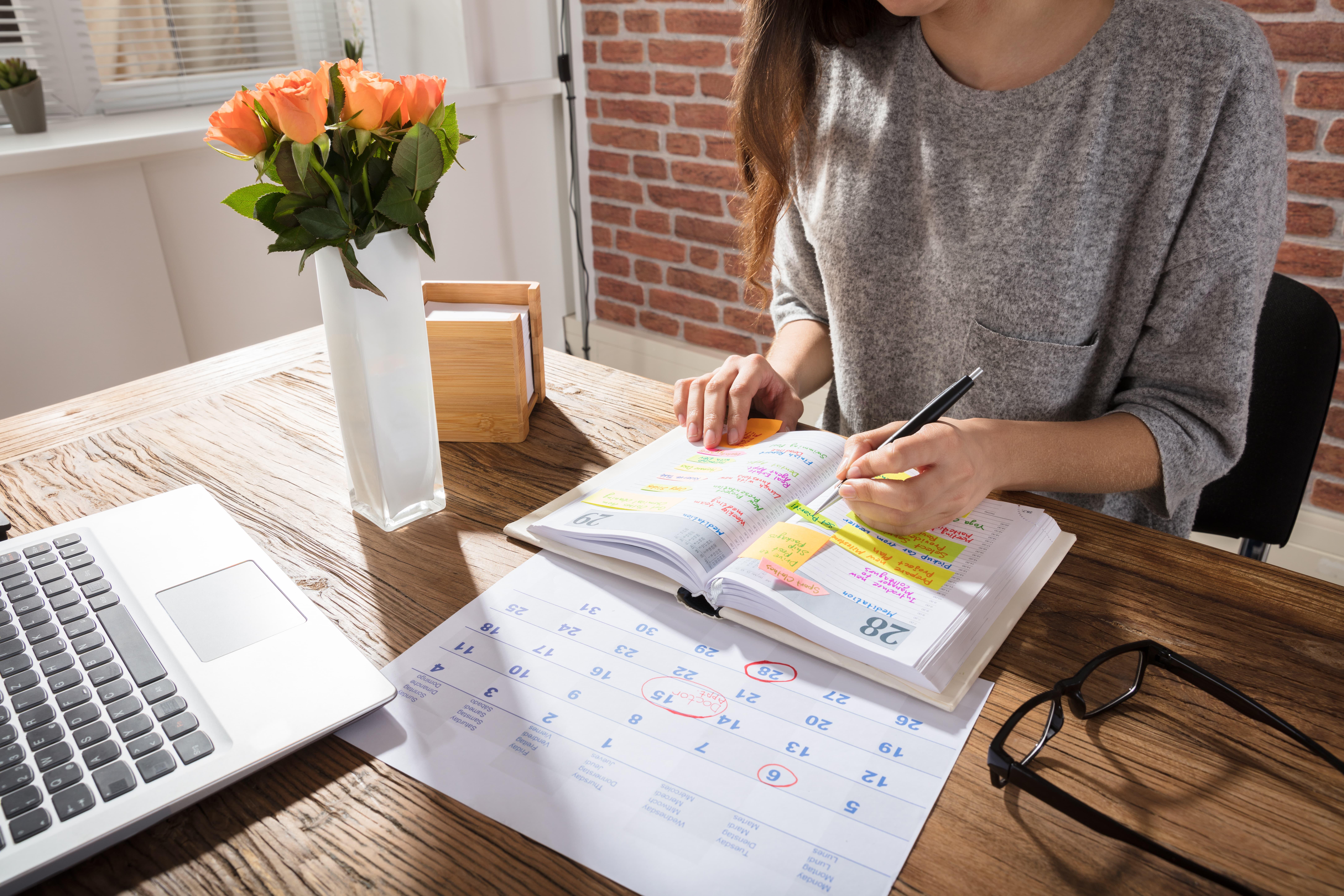 Women planning an agenda