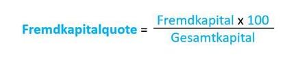 Fremdkapitalquote Berechnung Formel