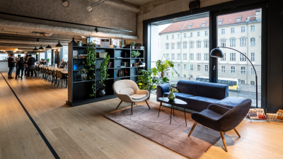 Photo of SumUp's Berlin office communal space