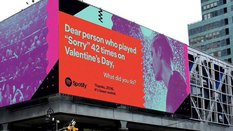 Spotify advertisement