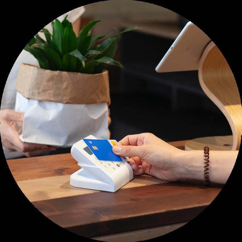 Zahlung mit SumUp Kartenlegerät