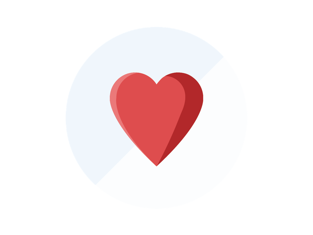 We care - heart icon