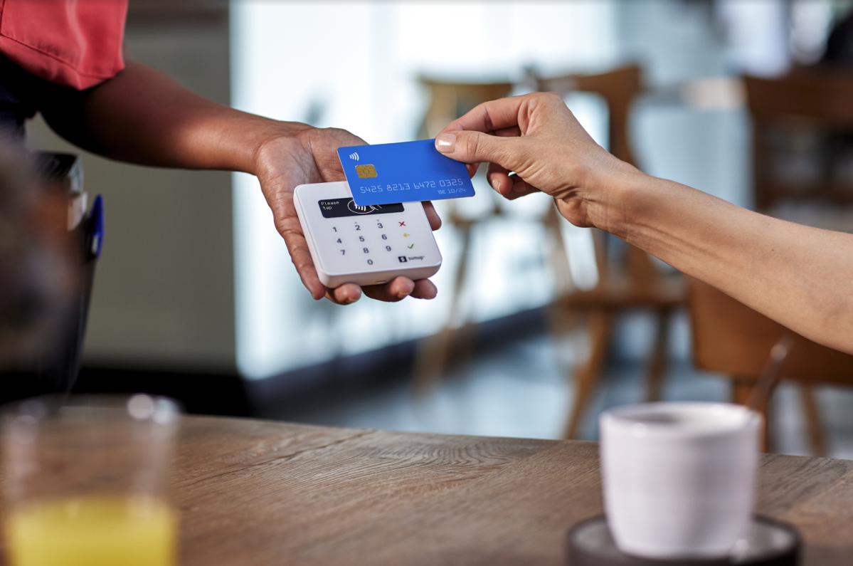 Card payment via SumUp Air Card Reader.