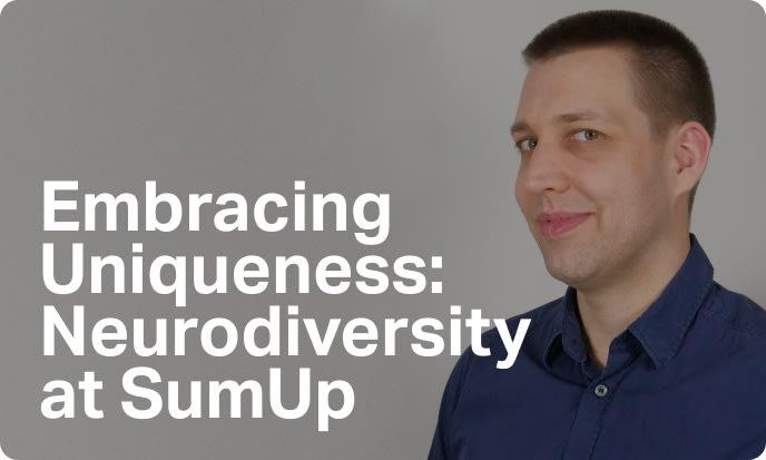 Photo of SumUp employee –Neurodiversity blog link