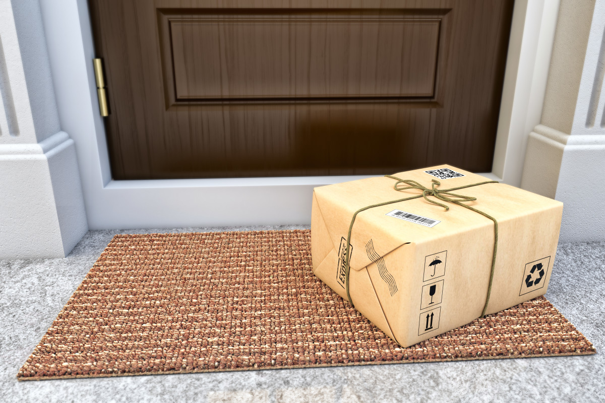 retail gift parcel on doorstep - future of retail