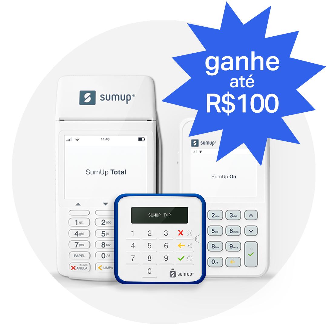 Indique uma maquininha para família, amigos ou conhecidos e ganhe até R$ 100,00