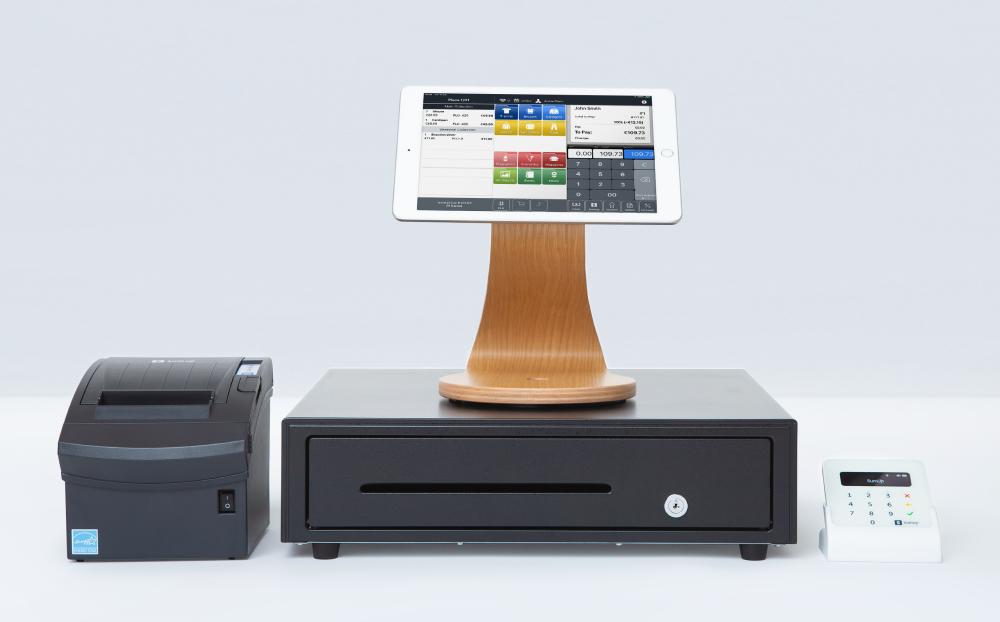 SumUp Kassensystem Hardware mit Kassenlade Bondrucker und Kartenterminal