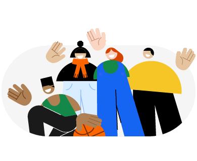 Ilustração representando o Off Site da SumUp